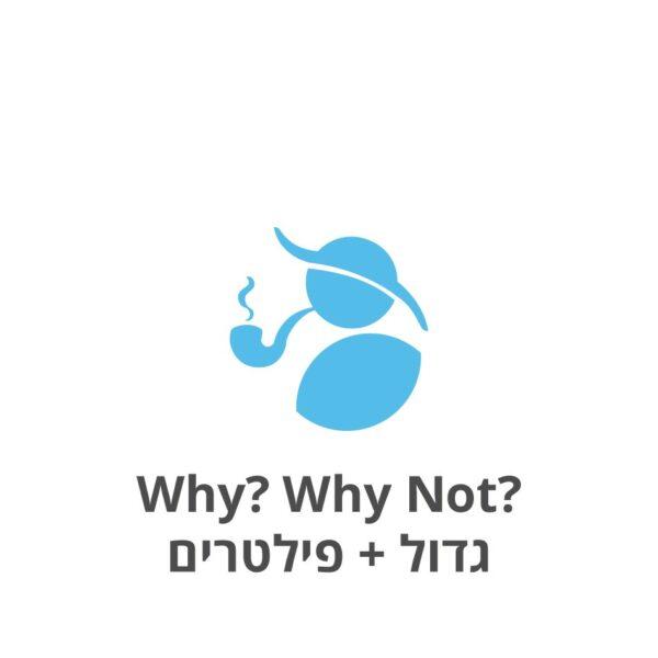 Why? Why Not? גדול + פילטרים