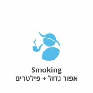 Smoking אפור גדול + פילטרים