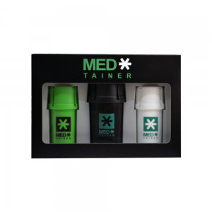 MED* חבילת 3 קופסאות אחסון + גריינדר אטום לריח
