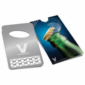 V Syndicate כרטיס גריינדר + פותחן בקבוקים