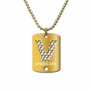 V Syndicate כרטיס גריינדר סדרת הדסקיות דגם V זהב