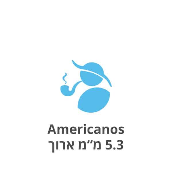 """אמריקנוס פילטרים 5.3 מ""""מ ארוכים Americanos 22mm/5.3mm filters"""